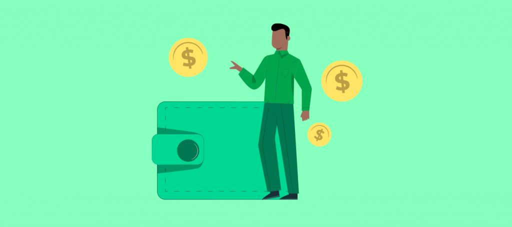 Empresario pagando gastos referentes ao das simples nacional